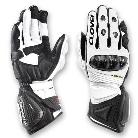Clover Leather Gloves Black White Evo RS-4