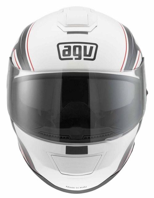 Agv Strada Multi Vision fullface helmet white-grey-red
