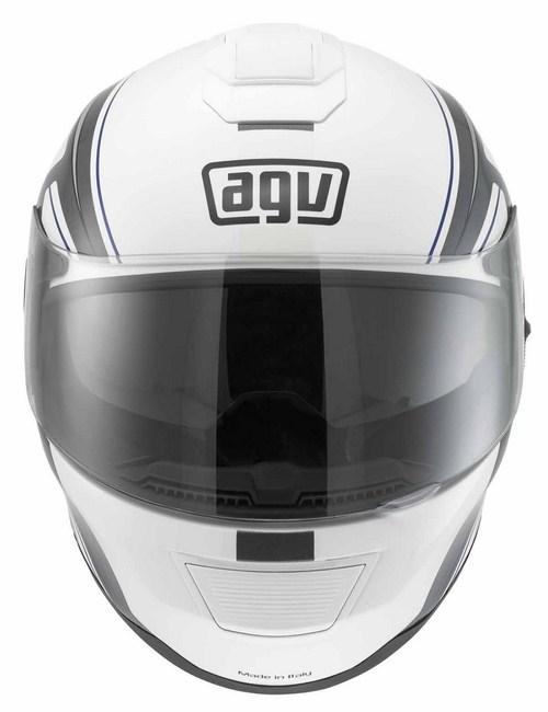 Casco moto Agv Strada Multi Vision bianco-grigio-blu