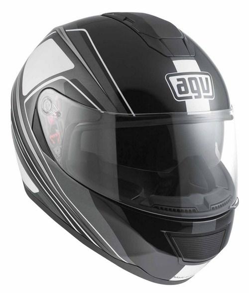 Casco moto Agv Strada Multi Vision nero-grigio-bianco