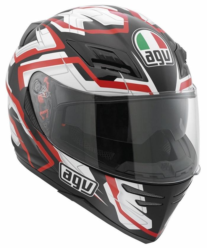 Casco moto Agv Horizon Multi Stamina nero-bianco-rosso