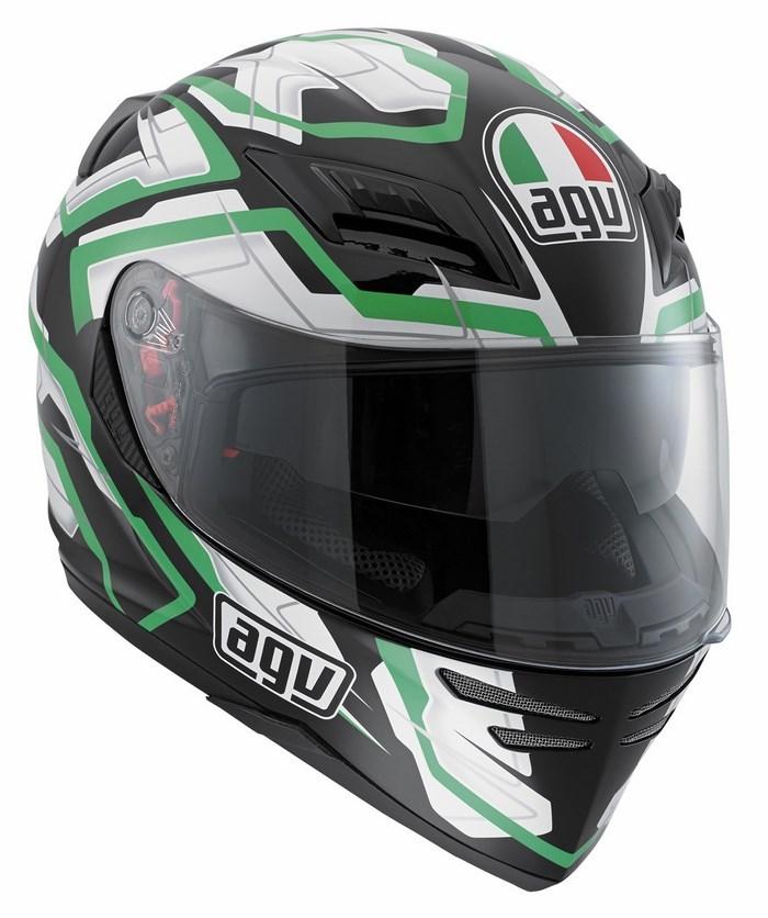 Casco moto Agv Horizon Multi Stamina nero-bianco-verde