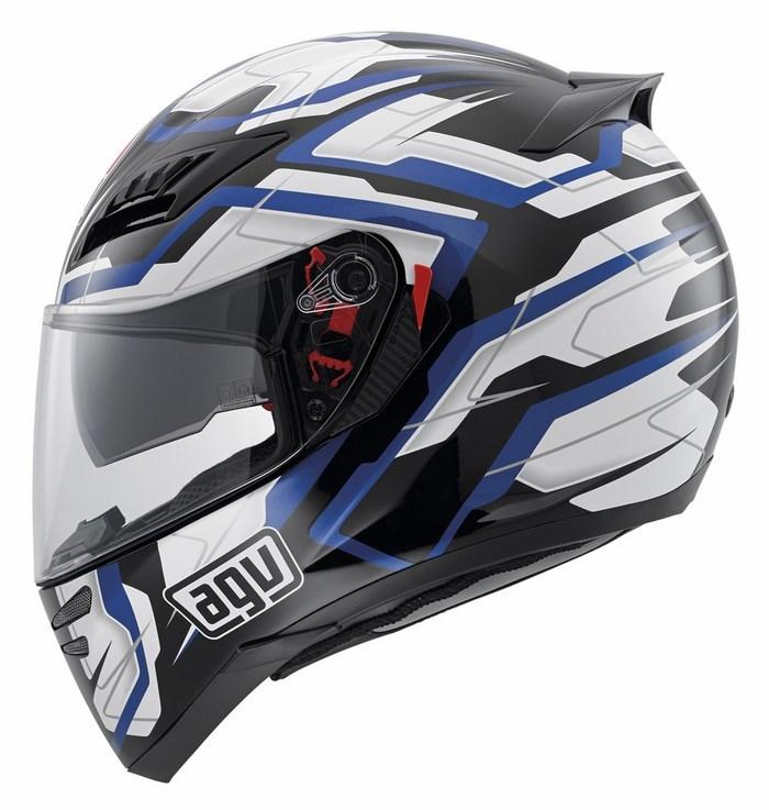 Agv GT Horizon Multi Stamina helmet black-white-blue