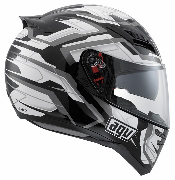 Casco moto Agv Horizon Multi Stamina nero-bianco-gunmetal