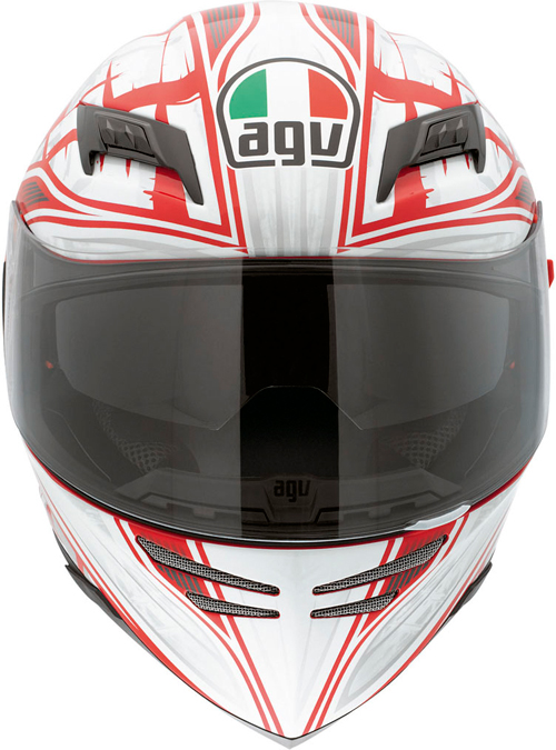 Casco moto Agv Horizon Multi Scrape rosso-argento
