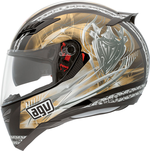 Agv Horizon Multi Blason full-face helmet black-gold