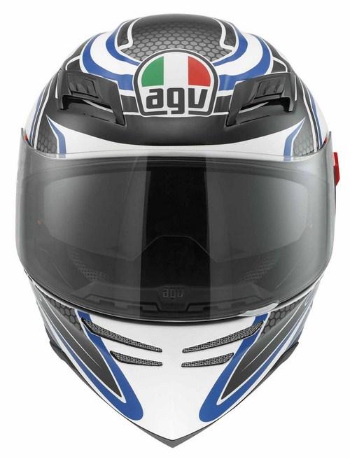 Agv Horizon Multi Racer fullface helmet white carbon blue