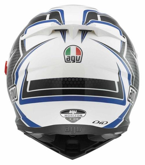 Casco moto Agv Horizon Multi Racer bianco-carbon-blu