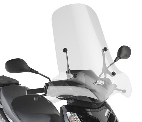Windshield Kappa 136A specifically for Aprilia Sportcity one 50-