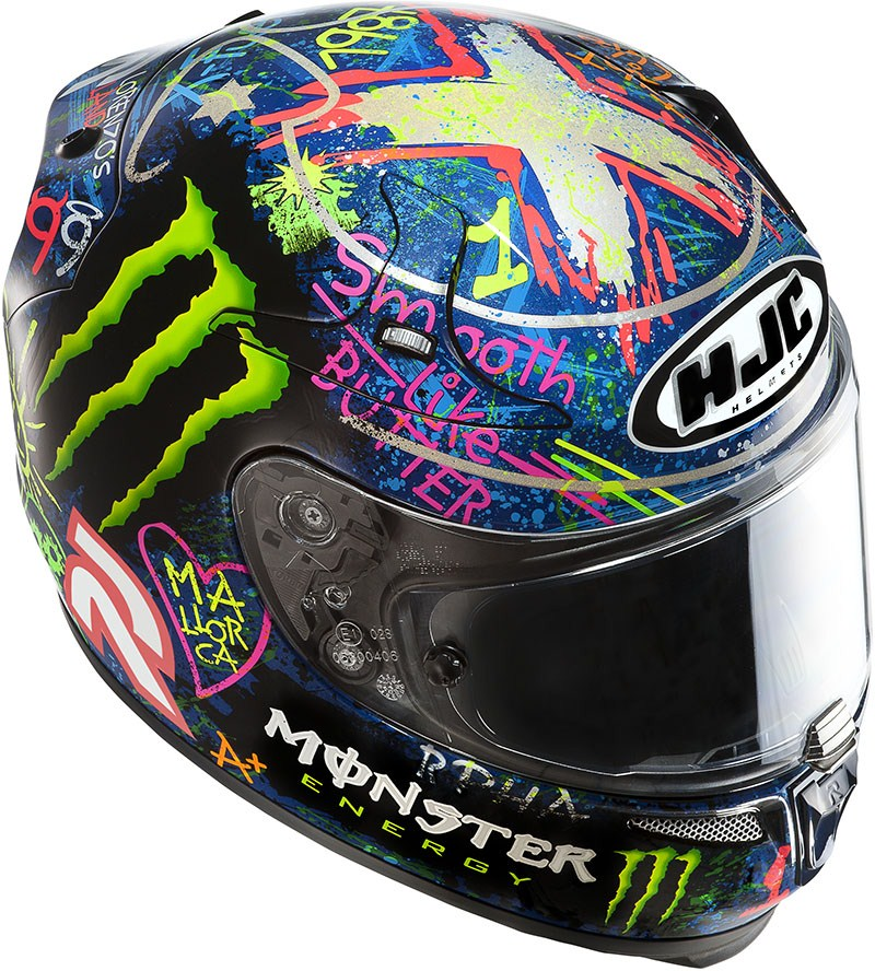 Casco integrale HJC RPHA 10 Plus Graffiti Lorenzo MC2