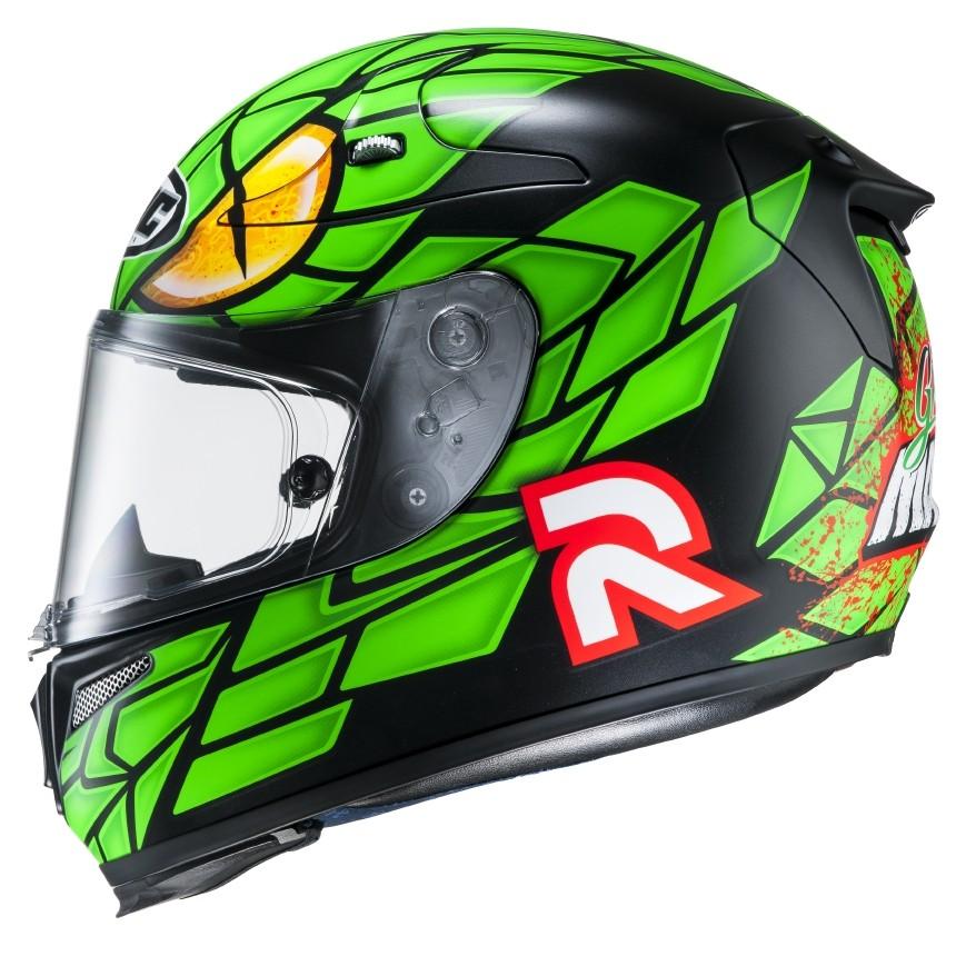 HJC RPHA 10 Plus full face helmet Green Mamba MC4SF