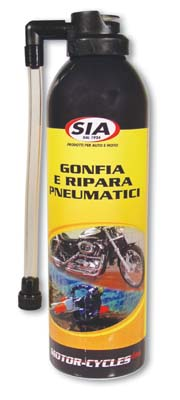 Inflates tires and repairs SIA