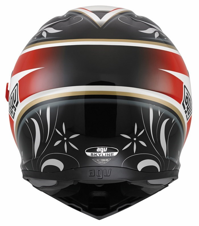 Casco moto Agv Skyline Multi Wings bianco-nero-rosso