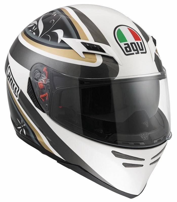 Agv GT Skyline Multi Wings helmet white-gunmetal