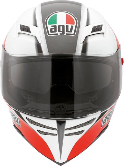 Agv Skyline Multi Block full-face helmet white-red