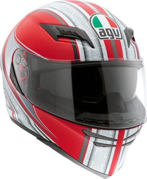 Casco moto Agv Skyline Multi Asura rosso-argento
