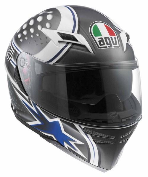 Agv Skyline Multi Psyco fullface helmet white-gunmetal-blue