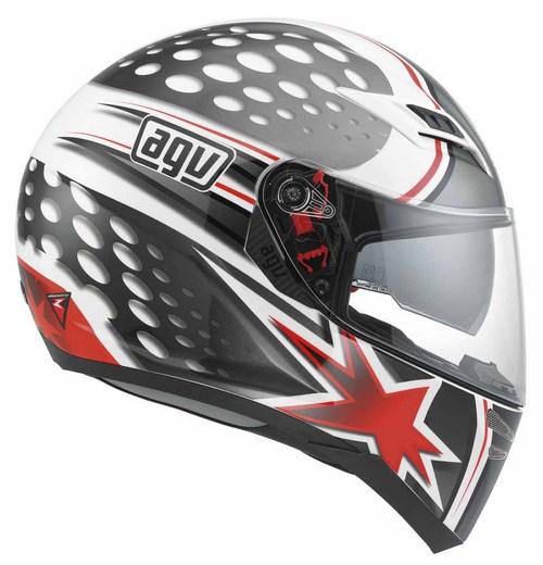 Agv Skyline Multi Psyco  fullface helmet white gunmetal red