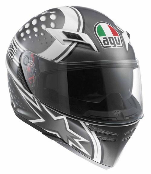 Agv Skyline Multi Psyco  fullface helmet white gunmetal