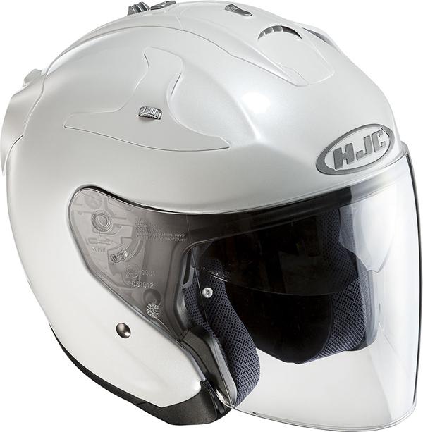 JET Jet Helmet HJC FG Pearl White