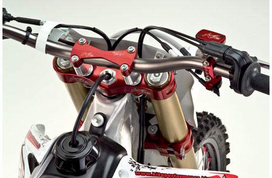 Piastre forcella Kite MX Enduro Husqvarna Rosso
