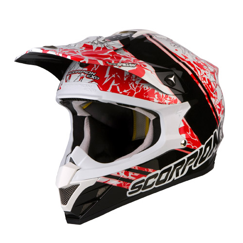 Scorpion VX 15 Air Wrap off road helmet White Black Red