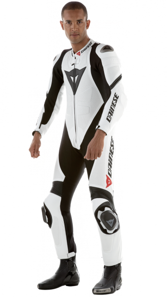 Dainese leather biker suit LAGUNA SECA PRO White Summer Black