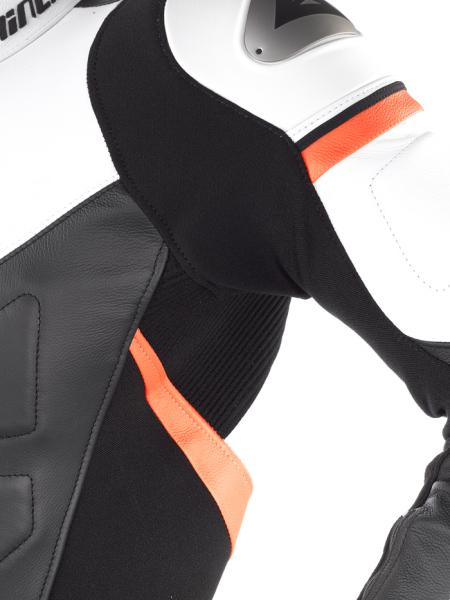 Dainese AVRO DIV. leather divisible suit White-Black
