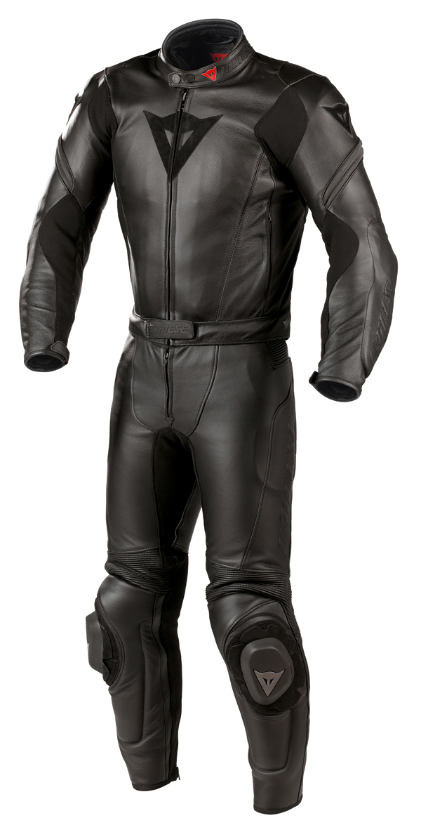 Dainese M6 2 Pieces leather suit black