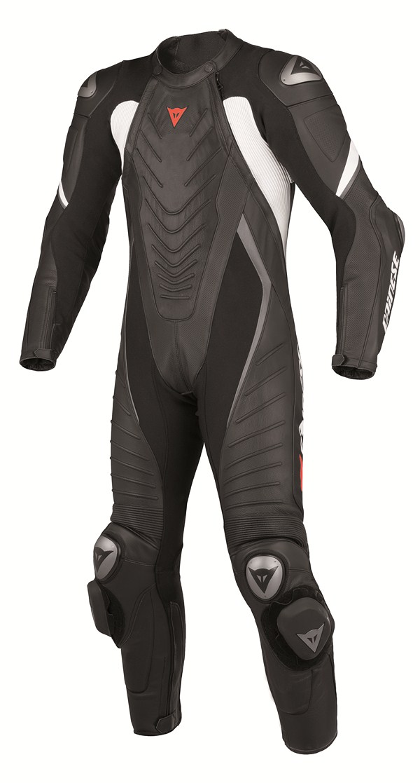 Dainese Aero Evo P. leather suit black black white
