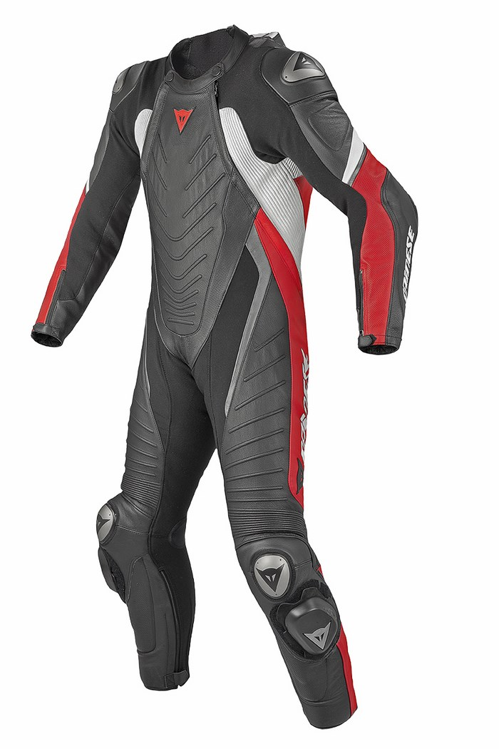 Dainese leather motorcycle suit Evo Aero Red Black Black