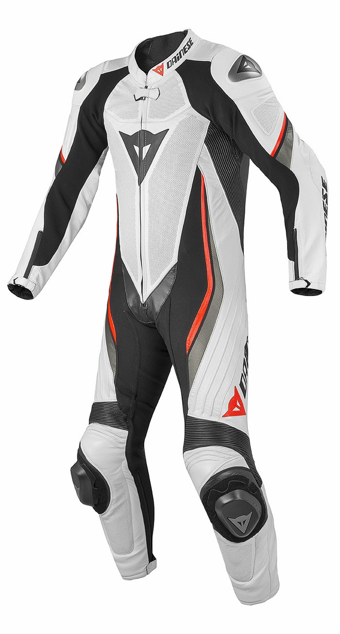 Dainese leather motorcycle suit summer Trickster Evo Black White