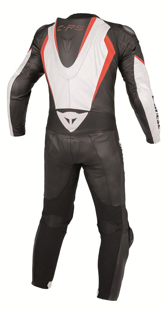 Dainese Crono P. Estiva leather suit white-black-red