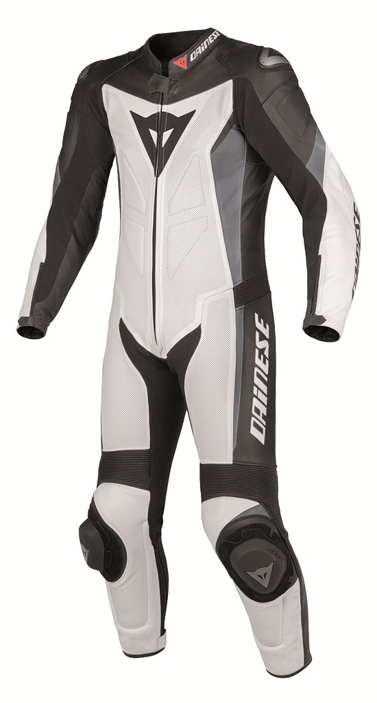Dainese Crono P. Estiva leather suit white-black-anthracite