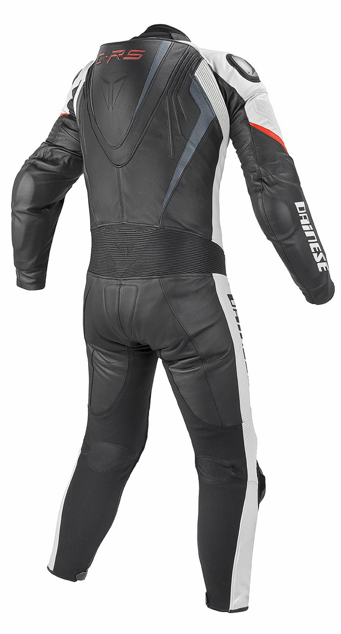 Dainese leather motorcycle suit summer Chrono Black White Red