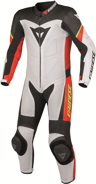 Dainese Youth Team P. Estiva leather suit kids white-black-red