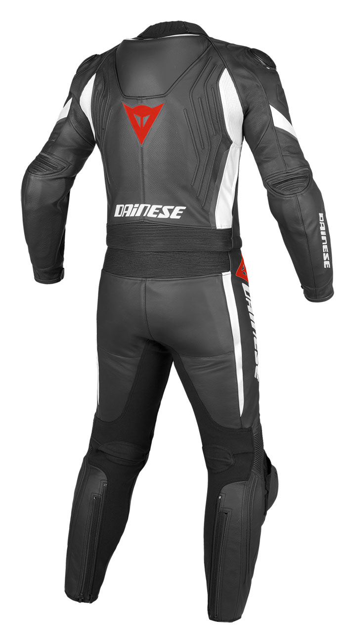 Dainese leather motorcycle suit divisible Aerster Black Black Wh