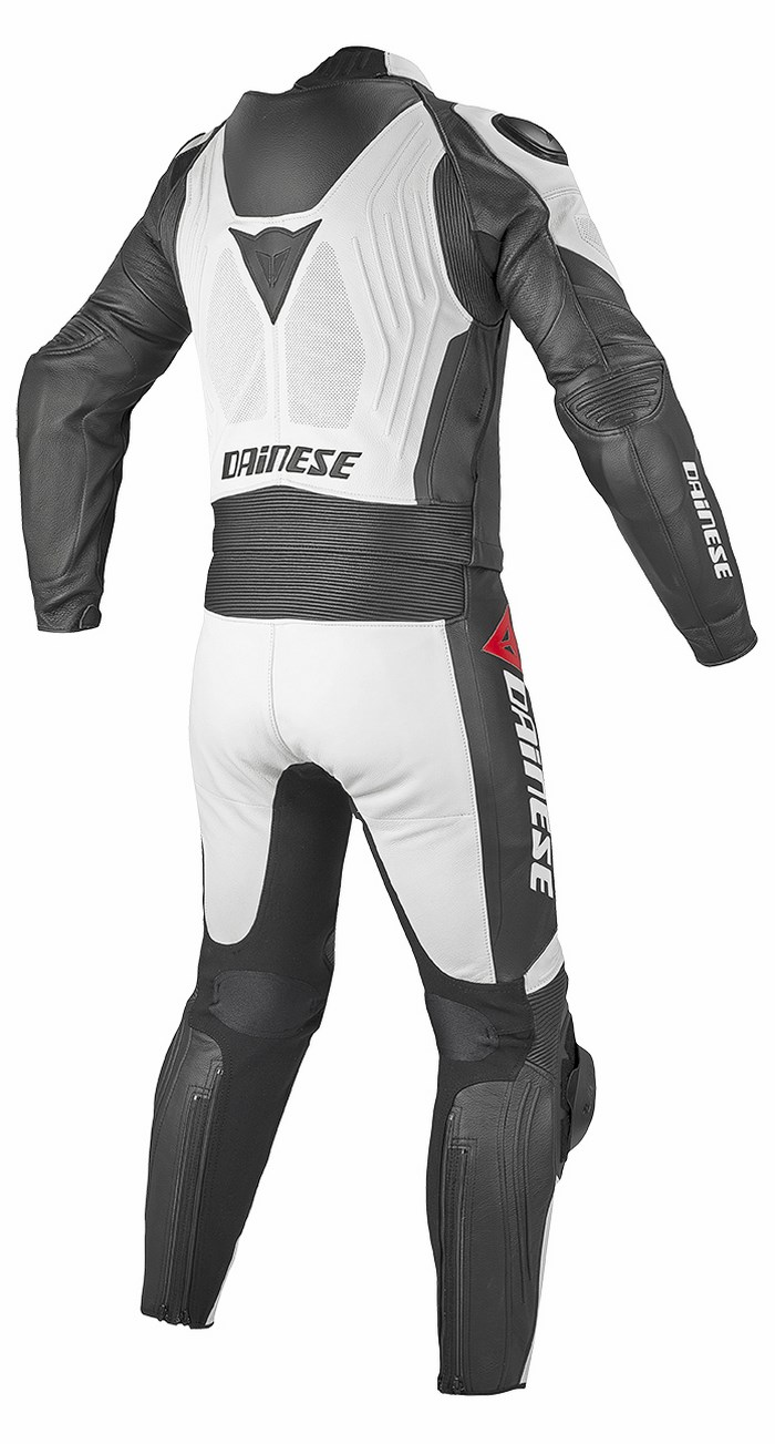 Dainese leather motorcycle suit divisible Aerster White Black Bl