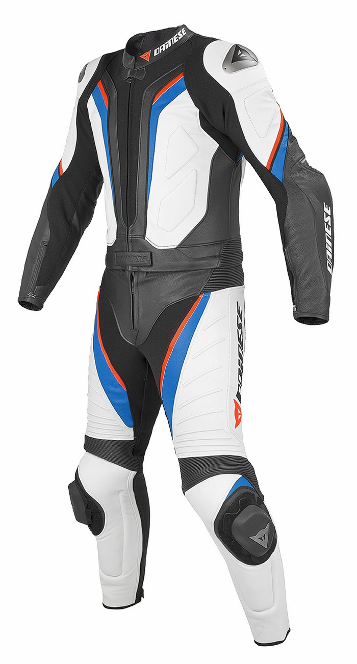 Divisible leather biker motorcycle jacket Dainese Aspide New Whi