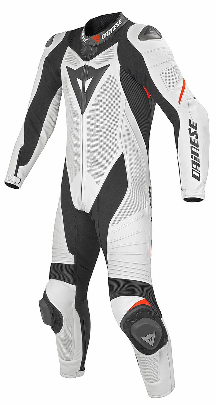 Dainese leather motorcycle suit summer Laguna Seca Evo Black Whi