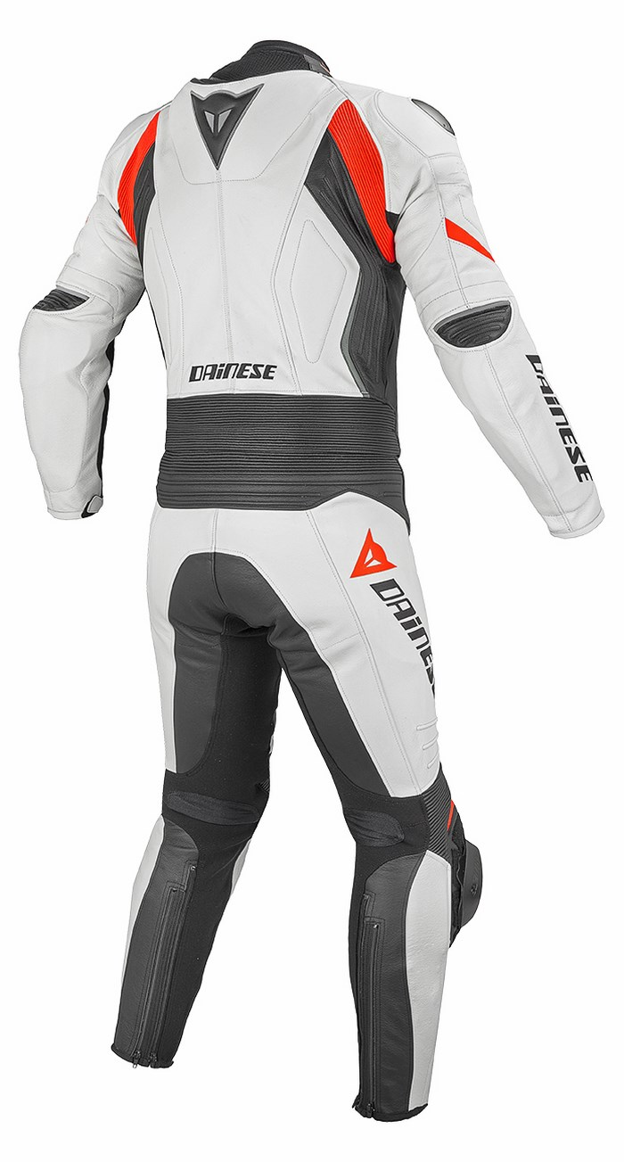 Divisible leather biker motorcycle jacket Dainese Laguna Seca Ev