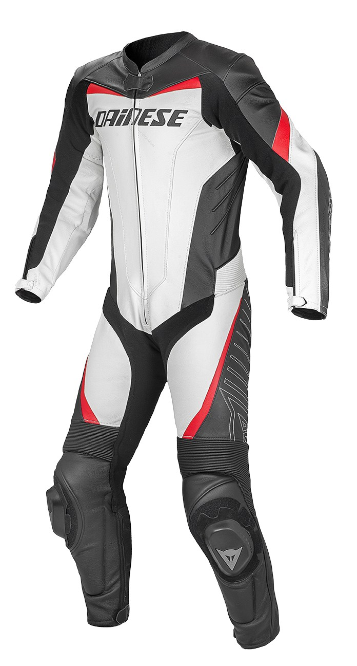 Dainese Racing leather suit White Black Red