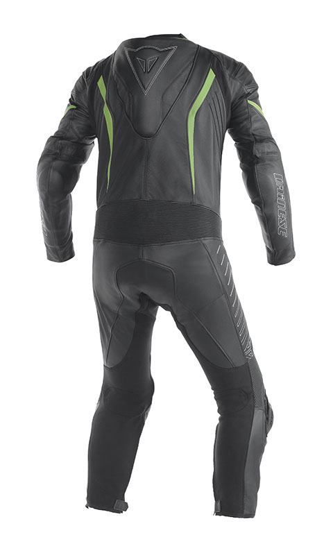 Dainese Racing leather suit Black Green Kawasaki