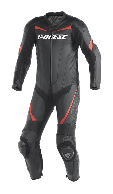 Dainese Racing leather suit Black Red