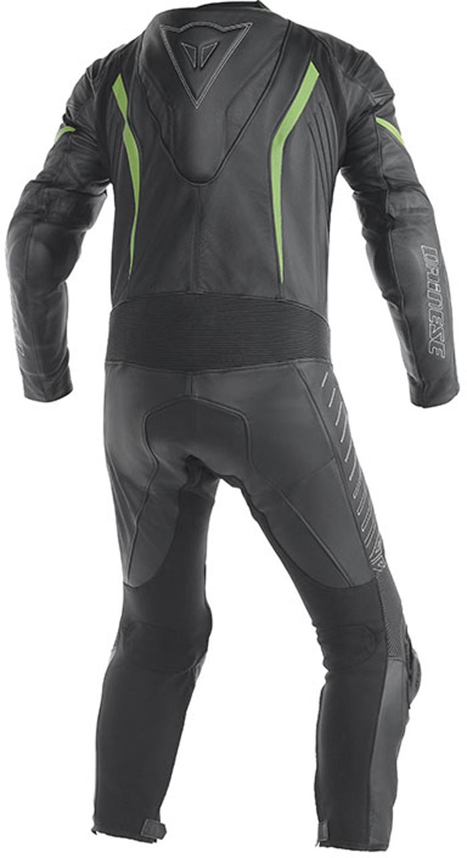 Dainese Racing leather summer suit Black Green Kawasaki