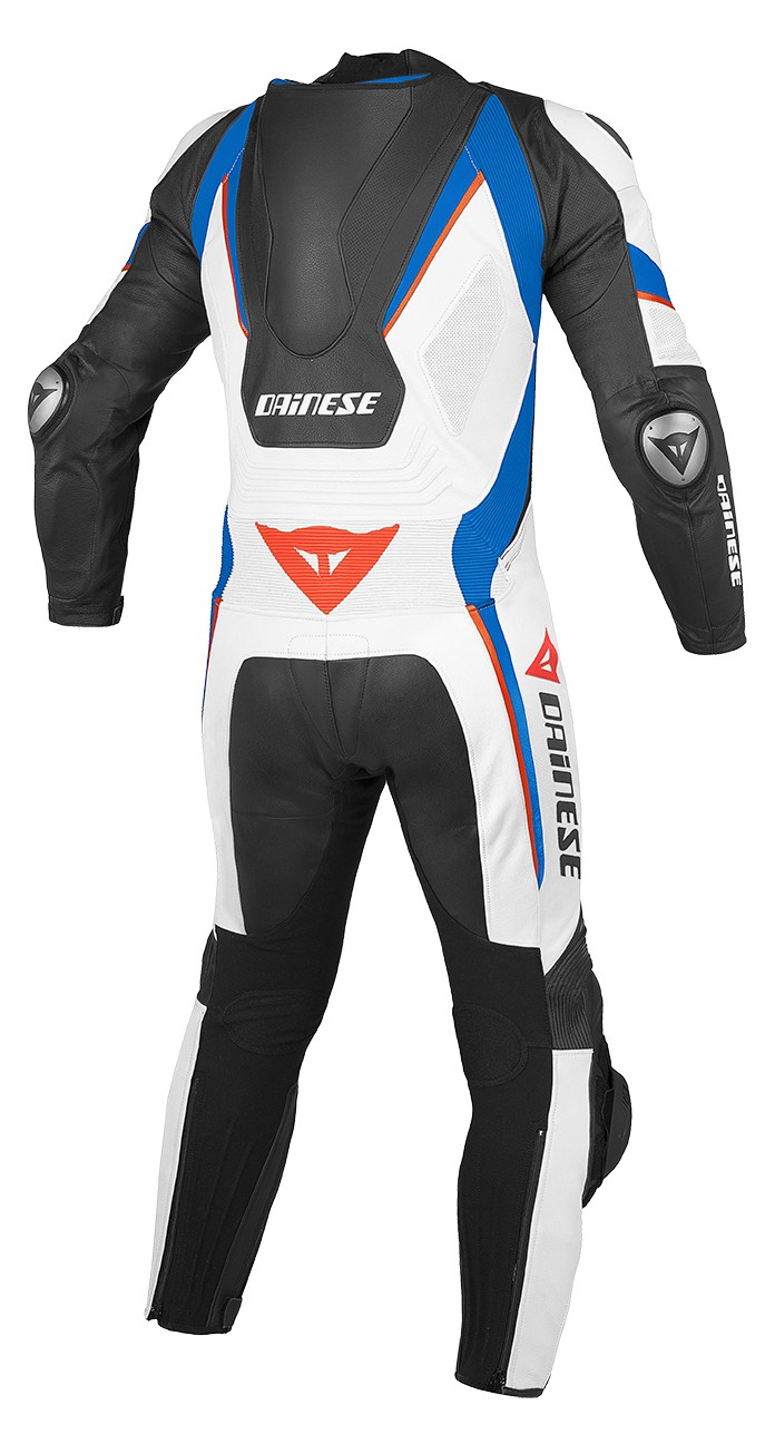 Dainese Aero C2 leather suit White Blue Red