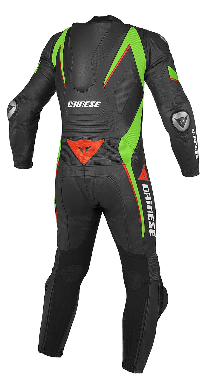 Dainese Aero C2 leather suit Black Green Red