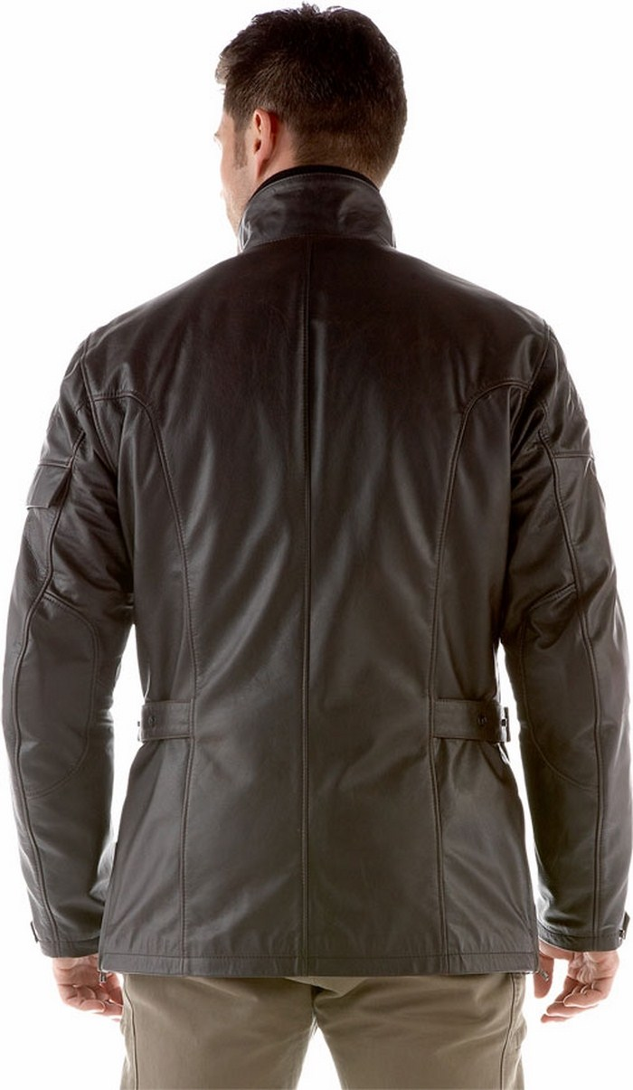 Super New Dainese motorcycle jacket leather Dark Brown