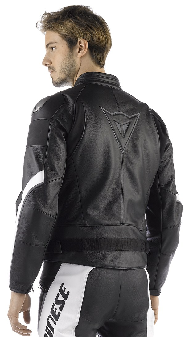 Dainese Alien leather jacket black-white
