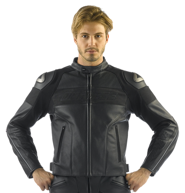 Dainese Alien leather jacket black-black
